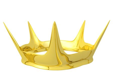 golden crown for Queen or princess