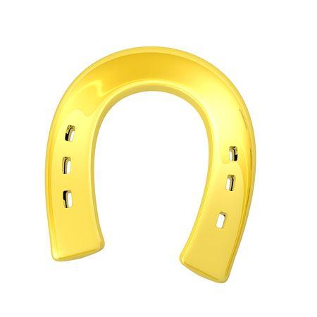 gold horseshoe as a symbol of luck Stock Photo - 4185265