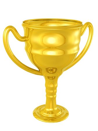3d rendered isolated gold chalice  Stock Photo - 4270565