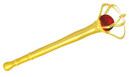 3d rendered royal gold scepter