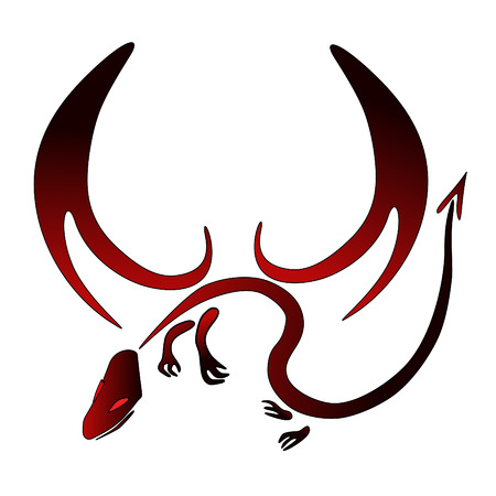 red and black vector dragon symbol