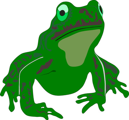 little green vector sad frog Stock Vector - 5302063