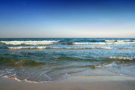 azov sea: Azov sea landscape with waves