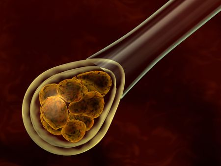 cell growth: 3d rendered biotechnology concept with pre-embryo Stock Photo