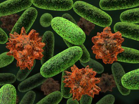 3d rendered bacteria illustration concept.