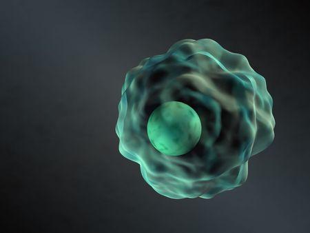 eukaryotic: 3d rendered human cell illustration