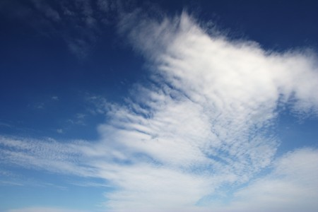 polarization: Blue cloudscape. The photograph made with polarization filter.