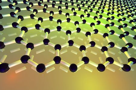 3d rendered graphene monomolecular layer Stock Photo