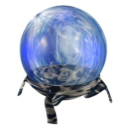 3d rendered magic orb with sky-like texture Stock Photo - 8889430