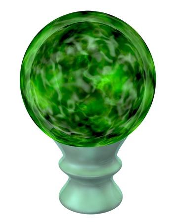 magick: 3d rendered magick green magic orb