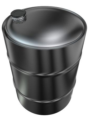 commerce and industry: 3d rendered metal barrel for oil transportation