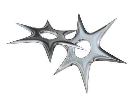 shuriken: arma de ninja shuriken procesada 3D Foto de archivo