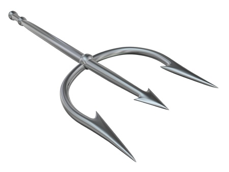 trident: 3d rendered isolated metal trident