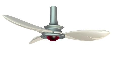 turbofan: ventilador procesada 3D aislado en blanco