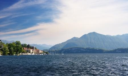 Lake Maggiore landscape view from Lesa