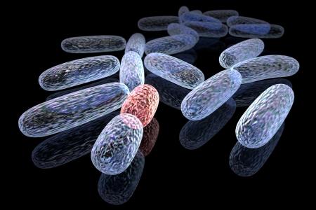 microbiologia: Concepto 3d prestados de bacterias transformadas Foto de archivo