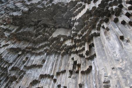 armenia: Unique geological wonder Symphony of the Stones near Garni Armenia Stock Photo