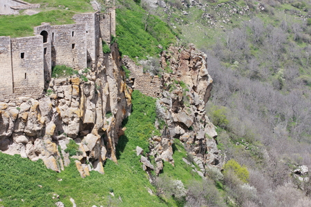 tatev: the impregnable wall of the monastery of Tatev