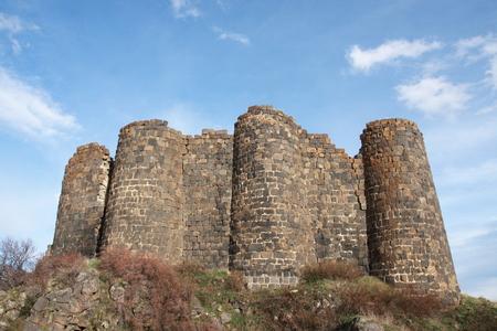 impregnable: Amberts castle ruin on Aragats mountain Armenia