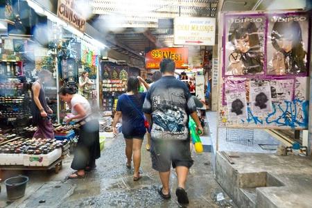 KHAO SAN ROAD, BANGKOK - 2012 APRIL 13: View of walking street in Khao San Road Stock Photo - 13154791