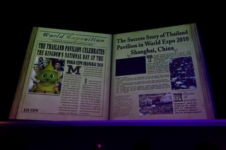 pavillion: Jan 19, 2012 - Thailand BOI Fair 2011 - Muangthong Thani, Thailand Pavillion Newspaper slide Editorial