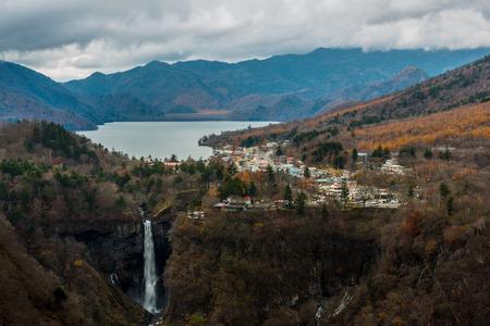 View of Okunikko area during autumn from Akechidaira Plateau Stock Photo