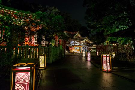 Lantern festival in Enoshima island Editorial