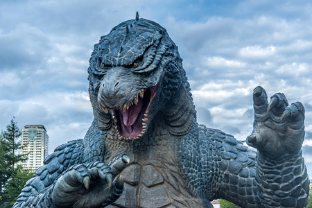 monster movie: Godzilla Statue in Roppongi