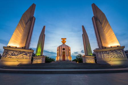 Twilight of Bangkok constitution monument