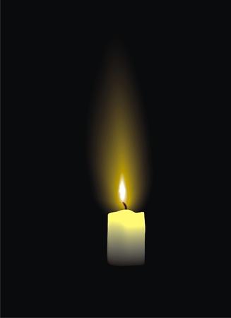 candle light: Burning candle