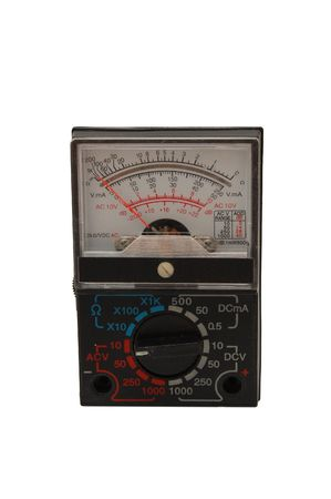 multimeter isolated on a white Stock Photo