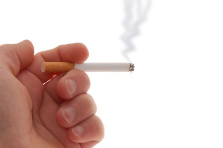 Cigarette isolated on a white