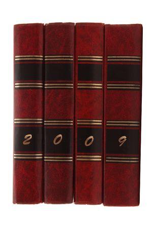 quattro libri isolato su bianco
