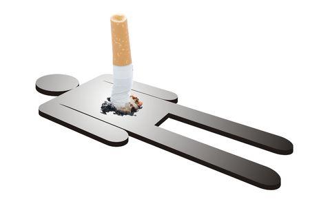 Concetto su danni del fumo Archivio Fotografico