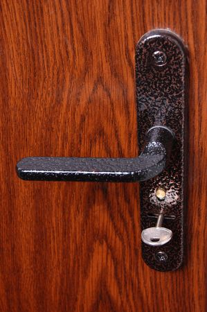 lock with a key from a door Stock Photo - 3869396