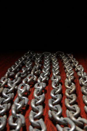 Chiudi vista dei collegamenti di una catena