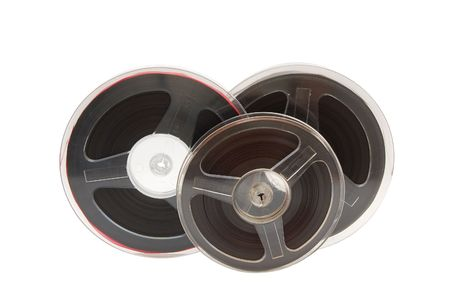analogue: A reel of quarter-inch analogue recording tape