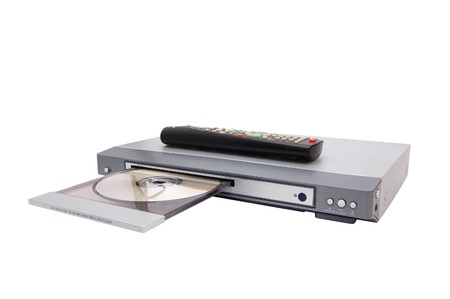 dvd cd mp3 player isolated on a white photo