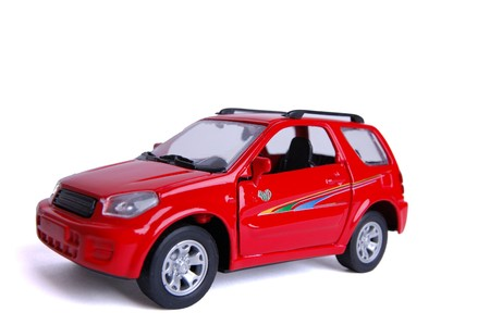 toy car isolated on white Archivio Fotografico