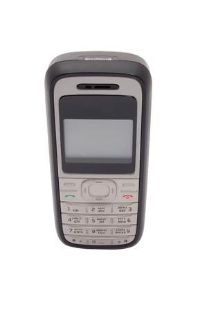 Mobile cellulare isolata on white Archivio Fotografico