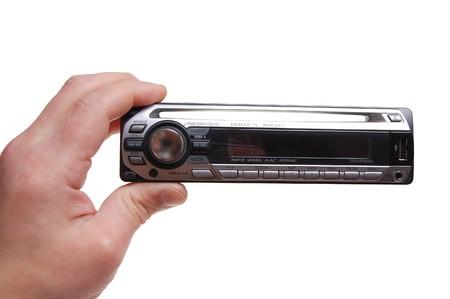 Nero audio auto pannello di controllo Archivio Fotografico