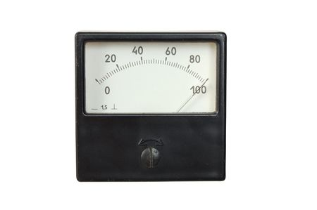 The old voltmeter isolated on a white background
