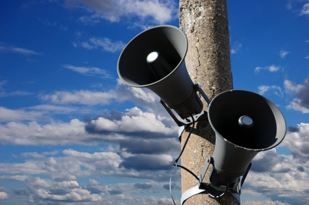 Speakers of a public address system. Stock Photo - 9397605