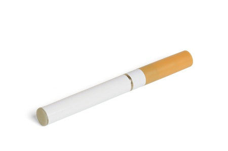 background e cigarette: Electronic cigarette isolated on a white background