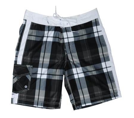 Checkerboard Shorts isolated on a White Background