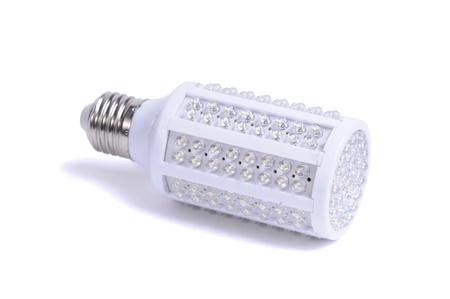 Lampada LED isolato su uno sfondo bianco