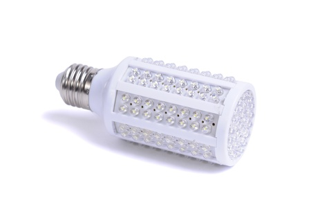 LED lamp isolated on a white background photo