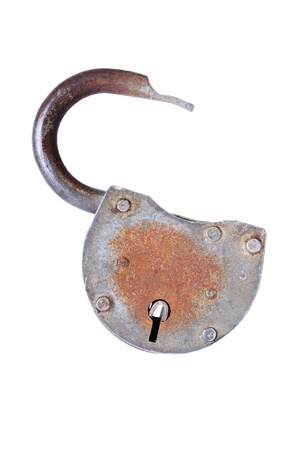 Unlocked lock, studio isolated on white background Stock Photo - 12798133