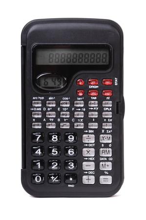 Engineering calculator isolated on a white background Stock Photo - 12798446