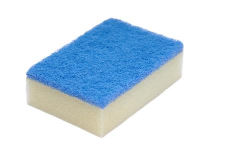 Kitchen sponge isolated on a white background